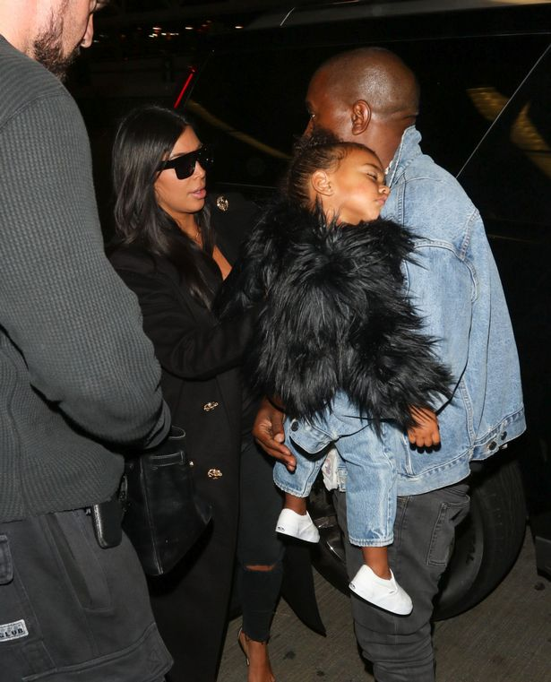 Kim and Kanye beg paparazzi not to wake a sleeping North ...